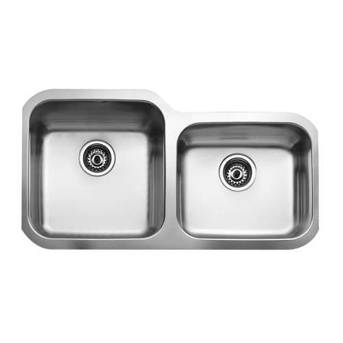 Teka BE 2B 880 Undermount 1.75 Bowl Stainless Steel Kitchen Sink