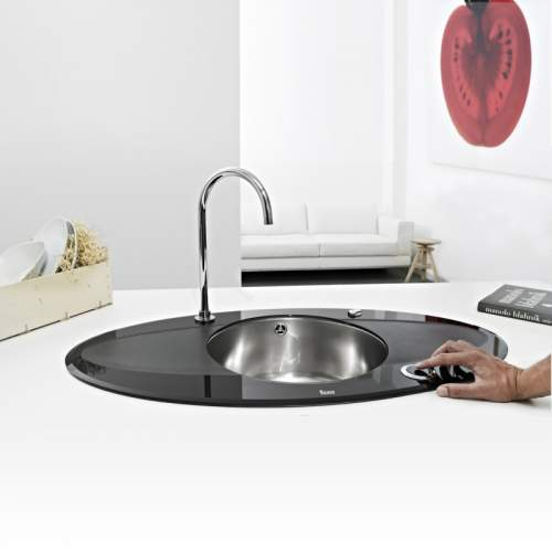 Teka iSink 95 DX Electronic Glass and Stainless Steel  Kitchen Sink