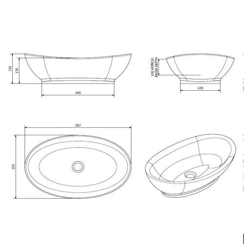 Aquabro Oval Counter Top Basin