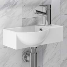 ARTB01 400mm Wide Side Tap Vessel Basin with Tap Hole