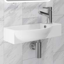 ARTB02 500mm Wide Side Tap Vessel Basin with Tap Hole