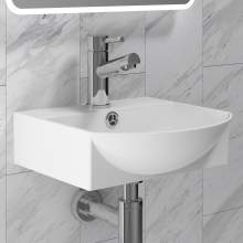 BAS012 350mm Wide Centre Tap Vessel Basin with Tap Hole