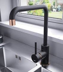 Black and Copper kitchen tap as seen on George Clarke Old House New Home