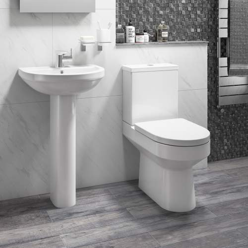 Aquabro Montego Close Coupled Toilet and Cistern