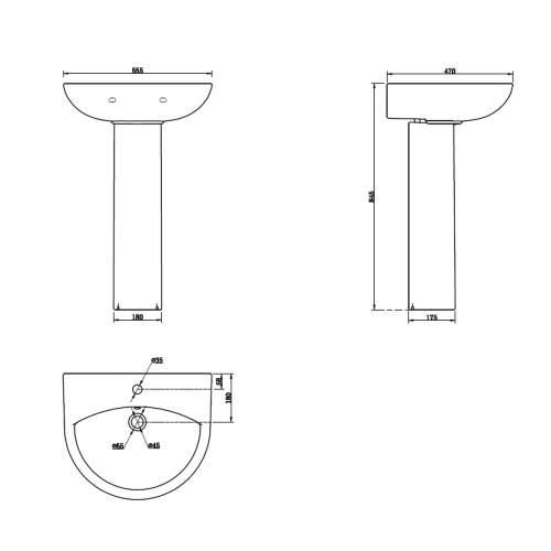 Spek Basin and Pedestal