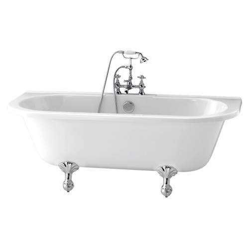 Aquabro Finchley DIBF0028 Freestanding Back To Wall Bath with Feet