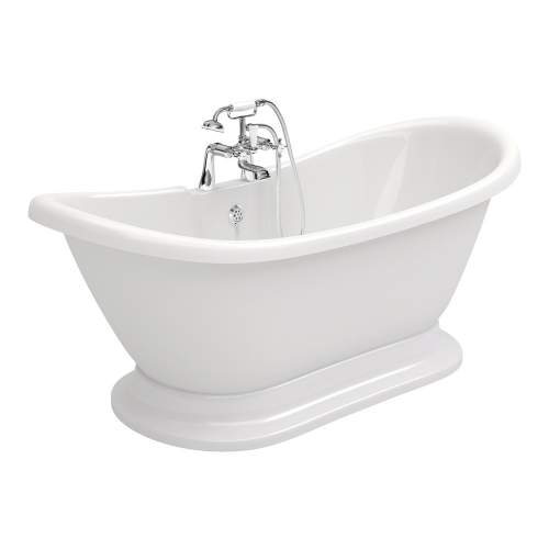 Aquabro Grace DIBFP2002 Freestanding Back to Wall Bath with Plinth