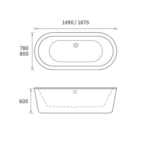 Aquabro Sloane DIBF0020 Freestanding Double Ended Bath