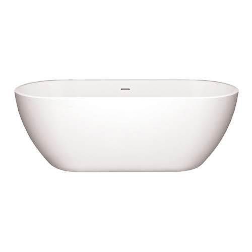 Aquabro Balham White Modern Freestanding Double Ended Bath