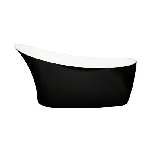 Aquabro Farringdon Classic Freestanding Single Ended Black Bath