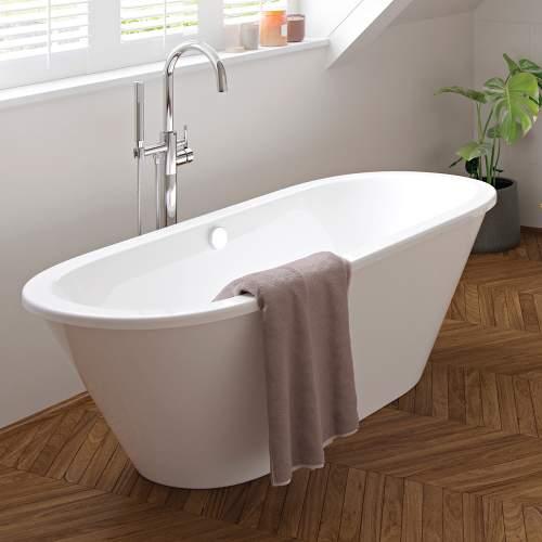 Aquabro Savoy Freestanding Modern Double Ended Bath