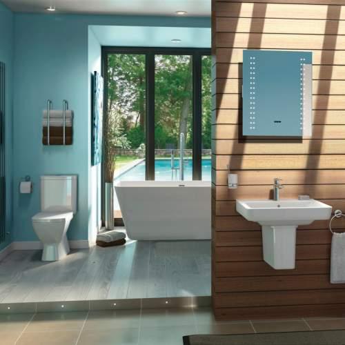 Aquabro Hoxton Freestanding Modern Double Ended Bath