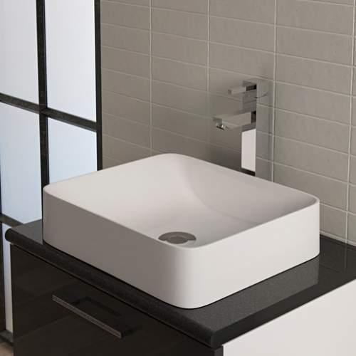 Aquabro Bergamot DIPB0016 Rectangular No Tap Hole Wash Bowl