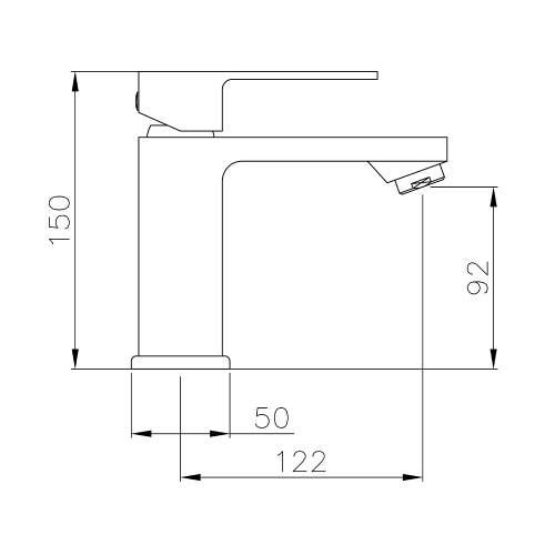 Abode FLUX AB2671 Basin Monobloc Mixer Tap