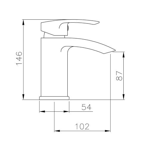 Abode LOOP AB2661 Basin Monobloc Mixer Tap