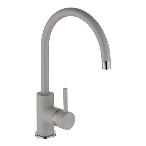 1810 Company Courbe COU/01/CH/PQ-CO Purquartz & Chrome Kitchen Tap