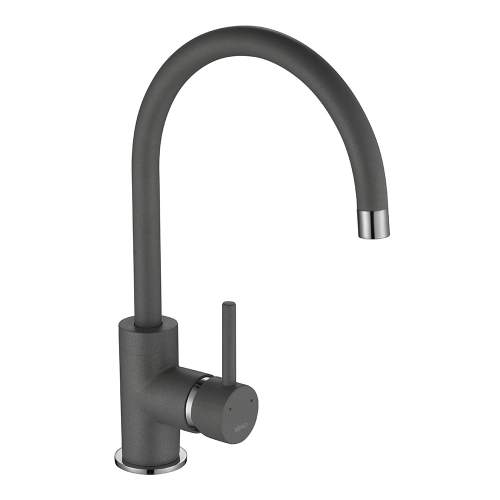1810 Company Courbe COU/01/CH/PQ-GR Purquartz & Chrome Kitchen Tap