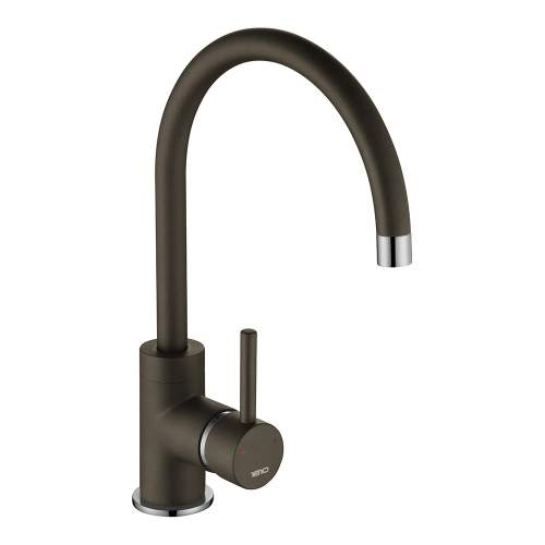 1810 Company Courbe COU/01/CH/PQ-MO Purquartz & Chrome Kitchen Tap