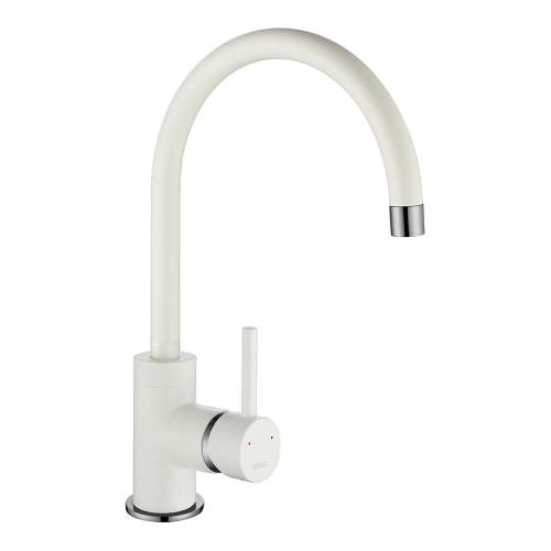 1810 Company Courbe COU/01/CH/PQ-WH Purquartz & Chrome Kitchen Tap
