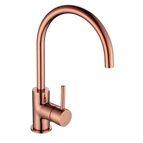1810 Courbe Curved Spout Kitchen Tap in Copper