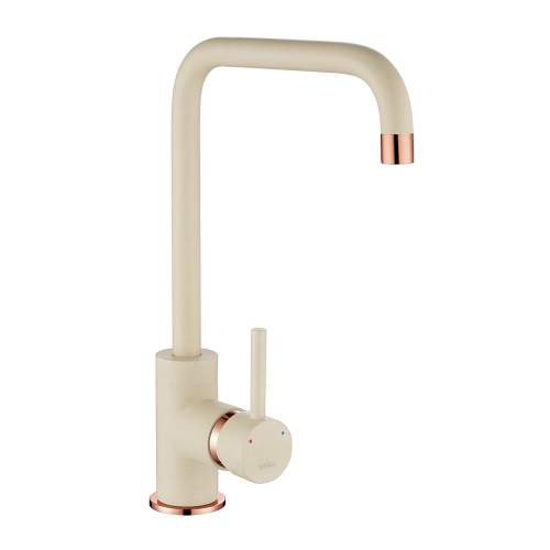 1810 Company Cascata Purquartz & Copper Kitchen Tap in Champagne