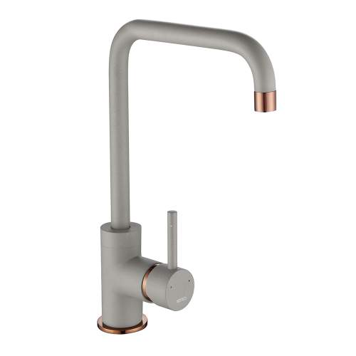1810 Company Cascata Purquartz & Copper Kitchen Tap in Concrete