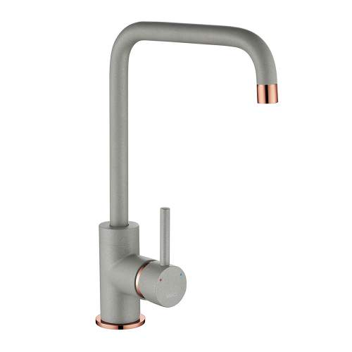 1810 Company Cascata Purquartz & Copper Kitchen Tap in Grey