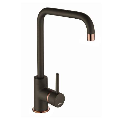 1810 Company Cascata Purquartz & Copper Kitchen Tap in Mocha