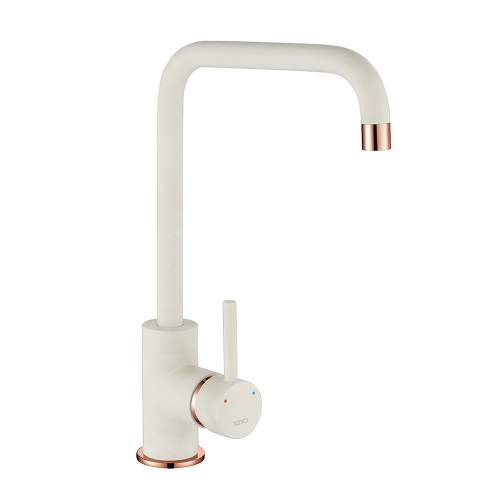 1810 Company Cascata Purquartz & Copper Kitchen Tap in White