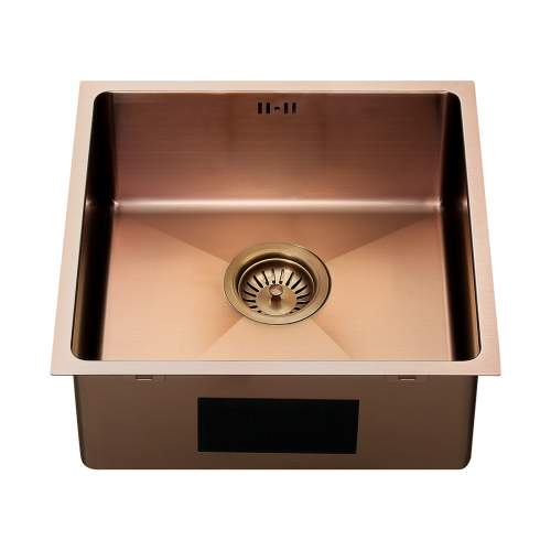 The 1810 Company ZENUNO15 400U PVD Undermount Copper Kitchen Sink