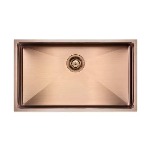 The 1810 Company ZENUNO15 700U PVD Undermount Copper Kitchen Sink