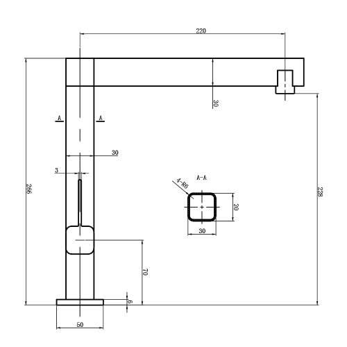 The 1810 Company XXX Purquartz & Chrome Kitchen Tap