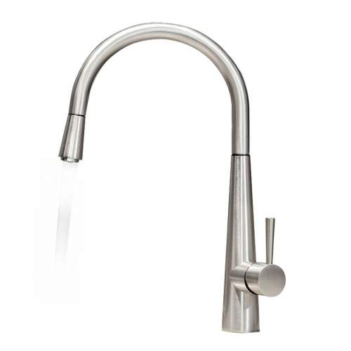 Gessi JUST 20580 Monobloc Pull-Out Kitchen Tap with White LED Light