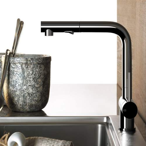 Gessi OXYGEN 50203 Monobloc Kitchen Mixer Tap with Pull-Out Rinse