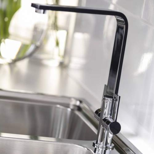 Abode QUANTIC AT2070 Monobloc Dual Lever Kitchen Tap