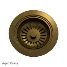 Perrin & Rowe 6400AB Waste Kit for Single Bowl Sinks in Aged Brass