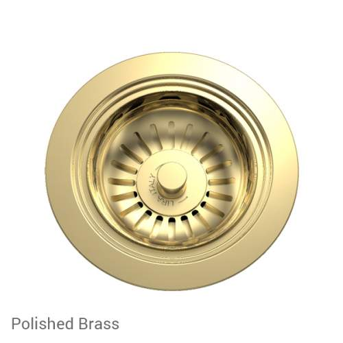 Perrin & Rowe 6400BR Waste Kit for Single Bowl Sinks in Polishged Brass