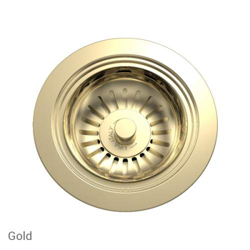 Perrin & Rowe 6400IG Waste Kit for Single Bowl Sinks in Gold