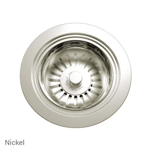 Perrin & Rowe 6400NI Waste Kit for Single Bowl Sinks in Nickel