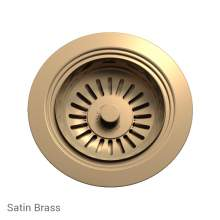 Perrin & Rowe 6400SB Waste Kit for Single Bowl Sinks in Satin Brass
