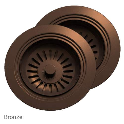 Perrin & Rowe 6475BZ Waste & Overflow Kit for 2 Bowl Sinks in Bronze