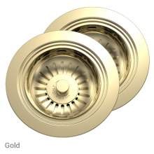 Perrin & Rowe 6475IG Waste & Overflow Kit for 2 Bowl Sinks in Gold