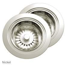 Perrin & Rowe 6475NI Waste & Overflow Kit for 2 Bowl Sinks in Nickel