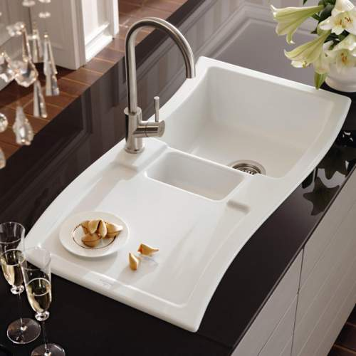 Villeroy & Boch NEW WAVE 60 Classic Line 1.5 Bowl Ceramic Kitchen Sink