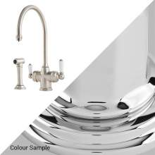 Perrin & Rowe 1937 Polaris 3 in 1 Instant Hot Water Kitchen Tap with Rinse