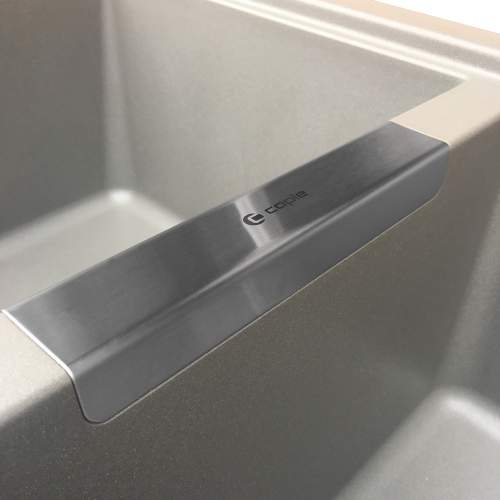 Caple Leesti 200 Double Bowl Granite Kitchen Sink Overflow Detail