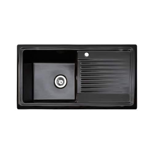 Reginox RL404CB Black Ceramic 1.0 Bowl Kitchen Sink
