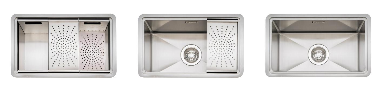 Caple Zona 100 kitchen sink with accessories