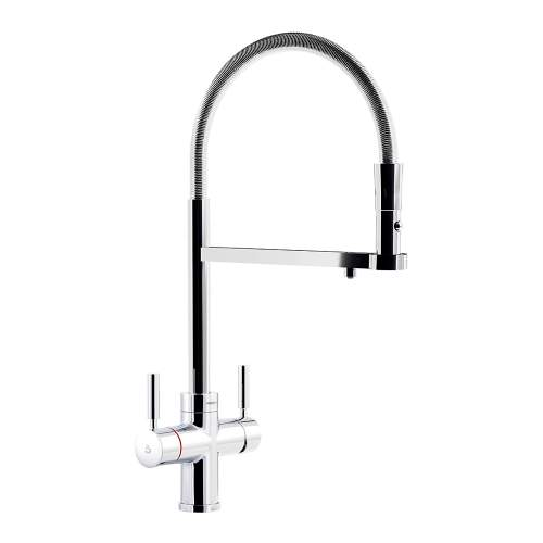 Abode PRONTEAU Professional 3 in 1 Pull Out Hose Kitchen Tap in Chrome PT1122