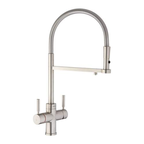 Abode PRONTEAU Professional 3 in 1 Pull Out Hose Kitchen Tap in Brushed PT1123